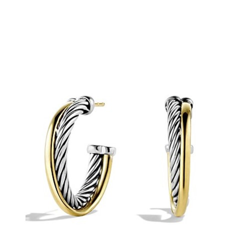 Crossover Small Hoop Earrings with G