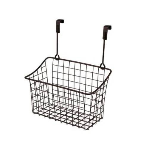 Spectrum Grid 10.125 in. W x 6.625 in. D x 11.25 in. H Over the Cabinet Medium Basket in Bronze