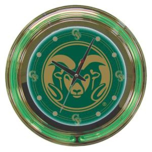 Trademark Global 14 in. Colorado State University Neon Wall Clock