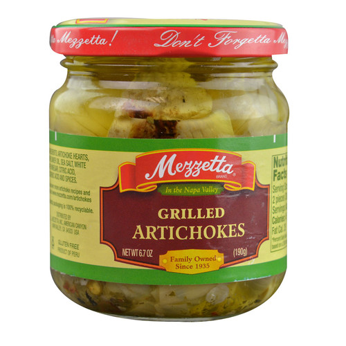 Mezzetta Grilled Artichokes -- 6.7 oz