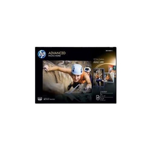 HP Advanced Photo Paper, Glossy, 13 x 19 Inches, 20 Sheets (CR696A)