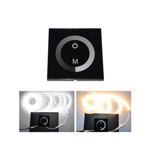 LED 12-24V DC Touch Panel Dimmer Switch for Sigle Color LED Strip LED Lights Bulbs