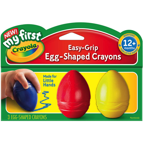 Crayola My First Crayola Easy Grip Egg Shaped Crayons, 3/Pack
