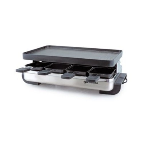 Swissmar 8-Person Stelvio Raclette Party Grill with Reversible Grill Plate