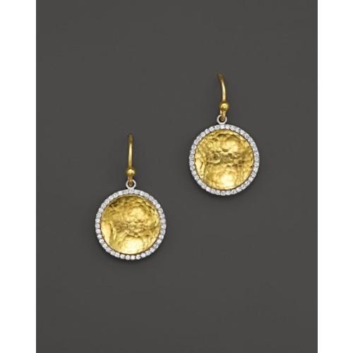 Small Hourglass Drop Earrings with Diamonds