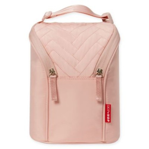 Suite by SKIP*HOP Double Bottle Bag in Blush