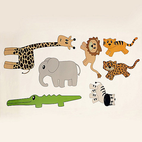 One Grace Place Jazzie Jungle Boy Decals (Set of 7)