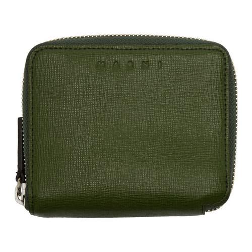 MARNI Green Zip Wallet