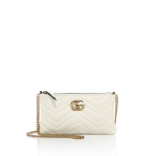 GUCCI Quilted Leather Chain Wristlet