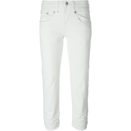 R13 Stretch Skinny Fit Cropped Jeans