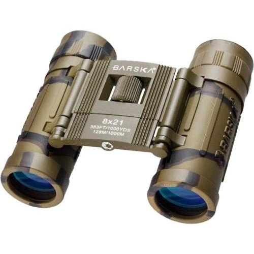 Barska Lucid View 8x21 Binoculars  Camo