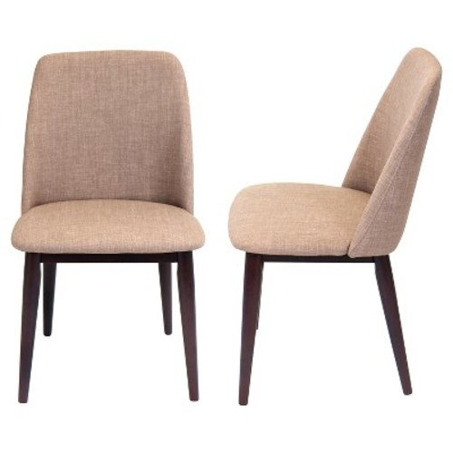 Tintori Mid Century Modern Dining Chairs Wood/Espresso (Set of 2) - LumiSource