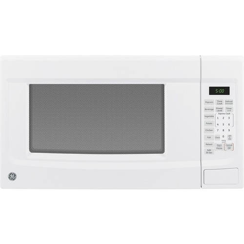 GE - 1.4 Cu. Ft. Mid-Size Microwave - White
