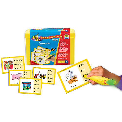 Educational Insights Hot Dots Flash Cards - Vowels