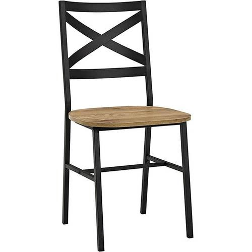 Walker Edison - X-Back Metal and Wood Dining Chair (Set of 2)