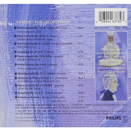 Mozart For Meditation CD