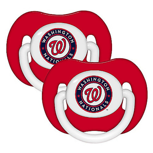 Baby Fanatic MLB Washington Nationals 2-Pack Pacifiers