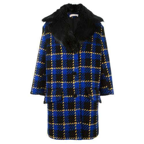 MARNI Bouclé Checked Coat