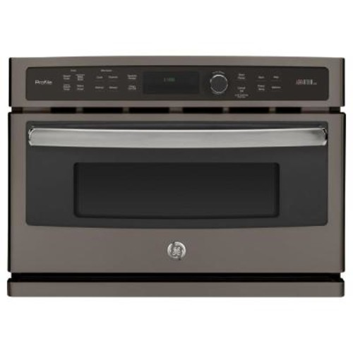 GE Profile 27 in. Single Electric Wall Oven Advantium Technology in Slate