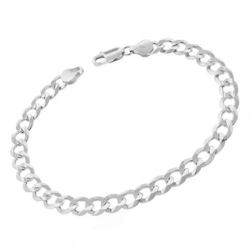 Sterling Silver Italian 7mm Cuban Curb Link ITProLux Solid 925 Bracelet Chain 9