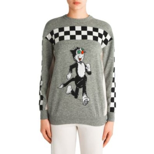 STELLA MCCARTNEY Felix Checked Wool Sweater