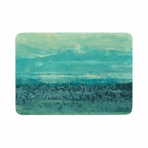 East Urban Home Iris Lehnhardt Oceanic Memory Foam Bath Rug; 0.5'' H x 24'' W x 36'' D