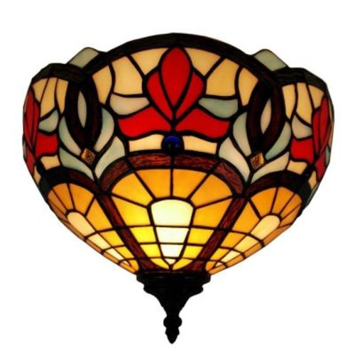 Amora Lighting Tiffany Style Victorian Design Wall Lamp