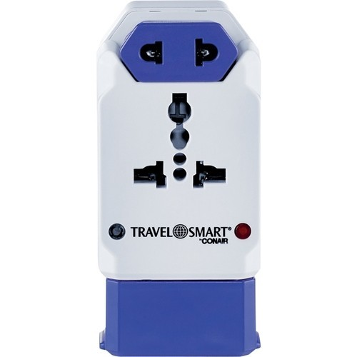 Travel Smart - All-in-One Power Adapter with USB - White