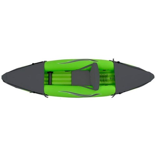 Outdoor Tuff 9 ft. Green Inflatable 1-Person Sport Kayak with Rotatable Paddle
