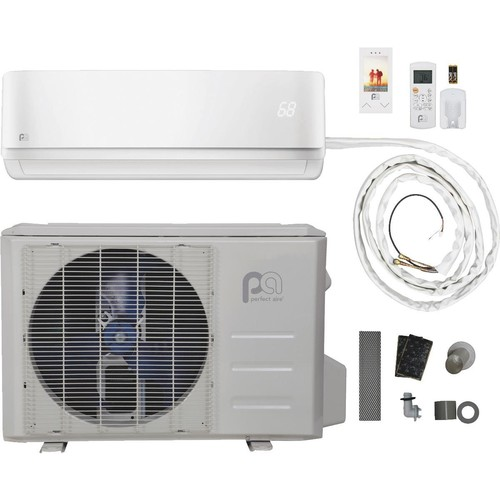 Perfect Aire Quick Connect 12,000 BTU Mini-Split Room Air Conditioner With Heating Mode - 2PAMSHQC12