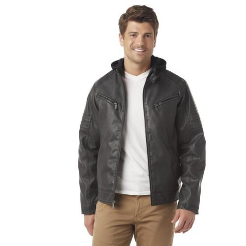 Structure Men's Hooded Moto Jacket [Fit : Men's]