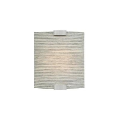 LBL Lighting Omni 1-Light Silver Small LED Sconce with Pewter Shade