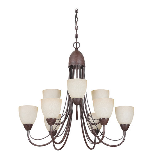 Tempest 9 Light Chandelier Finish: Rubbed Bronze [Rubbed Bronze]