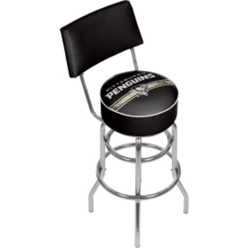 Trademark Games Pittsburgh Penguins Padded Swivel Bar Stool with Back