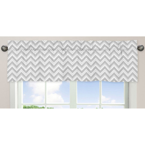Trend Lab Grey and White Circles Window Curtain Valance