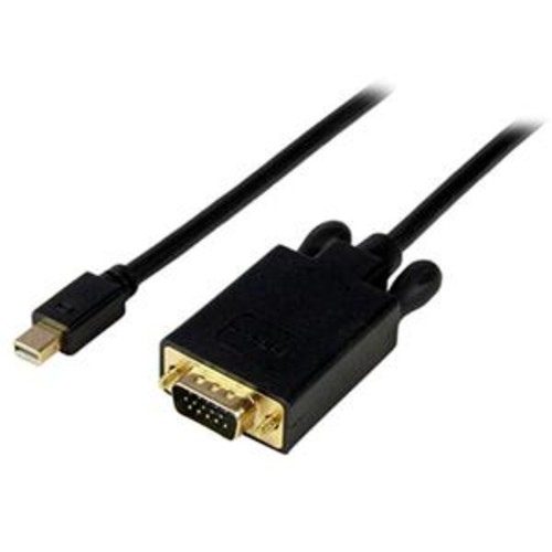 StarTech 3' Male Mini DisplayPort to Male VGA Adapter Converter Cable, Black MDP2VGAMM3B