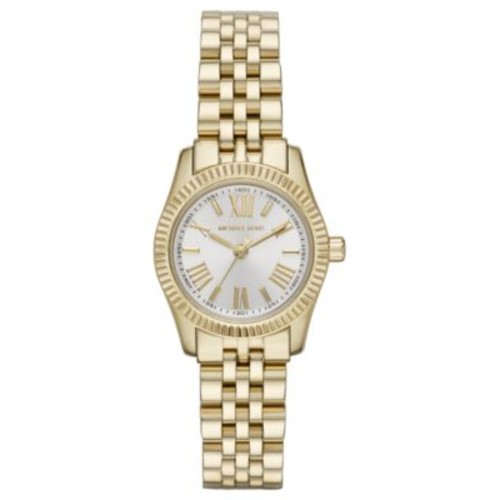 Michael Kors Women's Petite Lexington Gold-Tone Stainless Steel Bracelet Watch 26mm MK3229