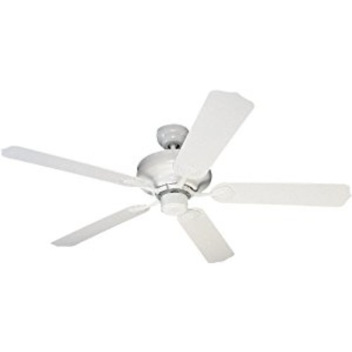 Sea Gull Lighting 1540-15 Long Beach 52-Inch, Five-Blade Ceiling Fan, White Finish [White]