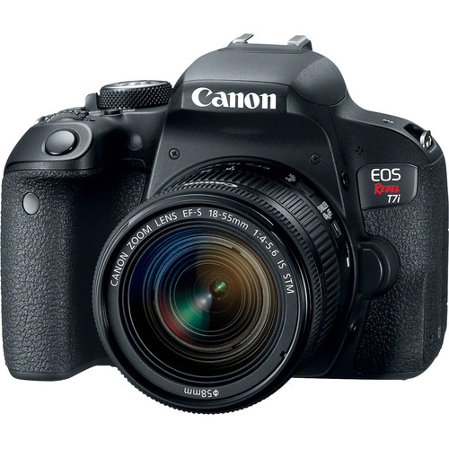 Canon 1894C002-kit-97315 EOS Rebel T7i Camera + EF-S 18-55 IS STM Lens + 32GB Card + Backpack + Tripod + Tele/Wide Lenses + Filt