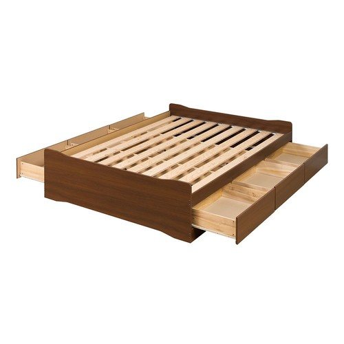 Prepac Coal Harbor Queen Wood Storage Bed