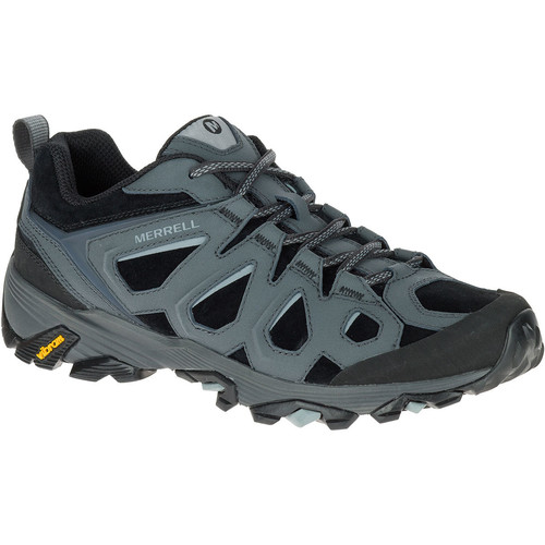 MERRELL Mens Moab FST Leather Hiking Shoes, Black/Granite