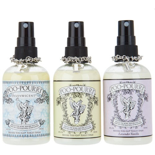 Poo Pourri Anniversary Set of (3) 4oz. Bathroom Deodorizers