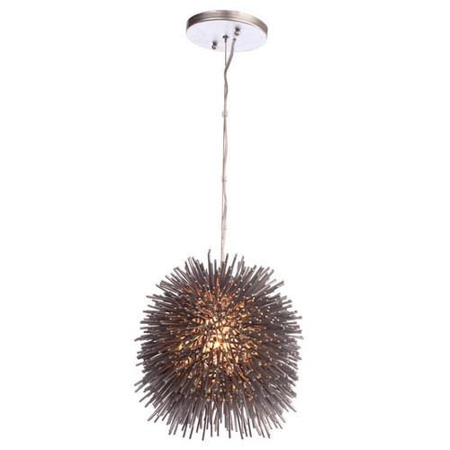 Varaluz 169M01SYE Urchin 1-Light Uber Mini Pendant - Un-Mellow Yellow Finish [Yellow]