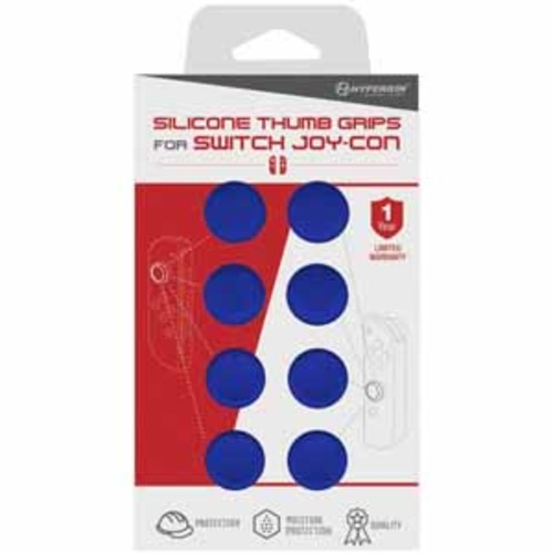 Hyperkin Silicone Thumb Grips For Nintendo Switch Joy-Con - Neo Blue (8/Pack)