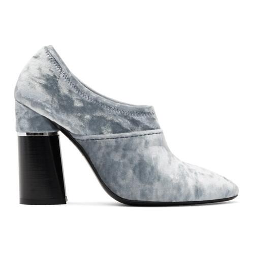 3.1 PHILLIP LIM Blue Velvet Kyoto Ankle Boots