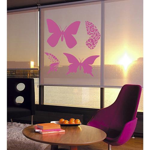 Butterflies and wings Wall Art Sticker Decal Pink