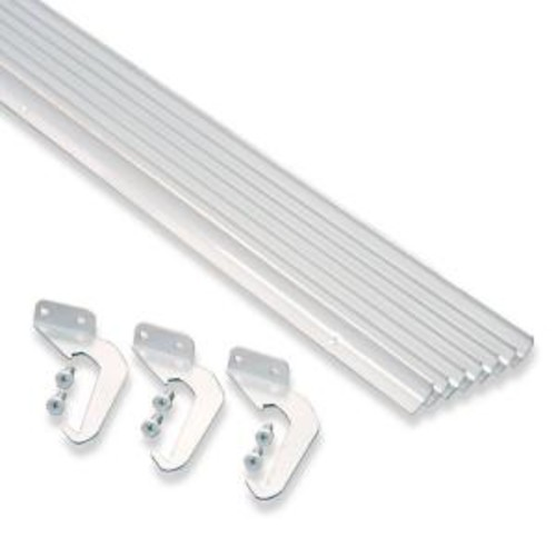 Rainhandler 5 ft. White Aluminum Gutter with Brackets & Screws - Value Pack of 50 ft.