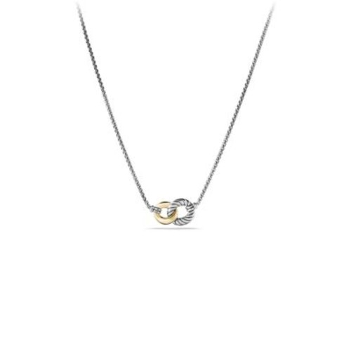 Belmont Curb Link Double Link Necklace with G