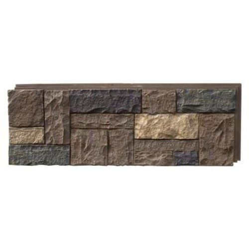 NextStone Castle Rock Tuscan Brown 15.25 in. x 43.25 in. Faux Stone Siding Panel (4-Pack)