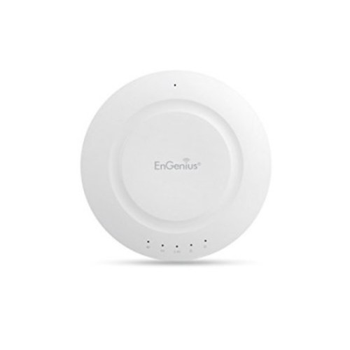 EnGenius Dual Band AC1200 Indoor Access Point - Wireless, 5GHz Band Up to 867Mbps, 2.4GHz Band Up to 300Mbps, Up to 26dBm, 1x RJ-45 Port w/PoE Support, Low Profile Ceiling Mount Design - EAP1200H